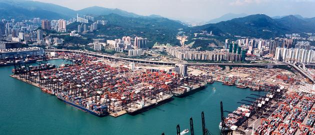 Containerhafen Hong Kong: Deutschlands Exporte nach China sind gesunken.