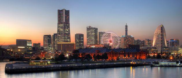 Skyline von Yokohama