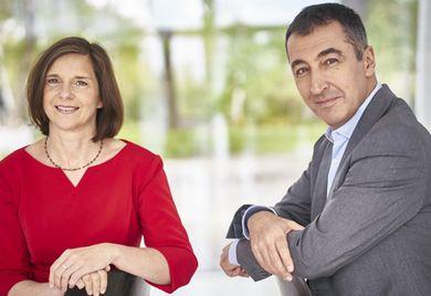 Für ein gutes gesellschaftliches Innovationsklima: Die Grünen ziehen mit den Spitzenkandidaten Katrin Göring-Eckardt und Cem Özdemir in den Wahlkampf.