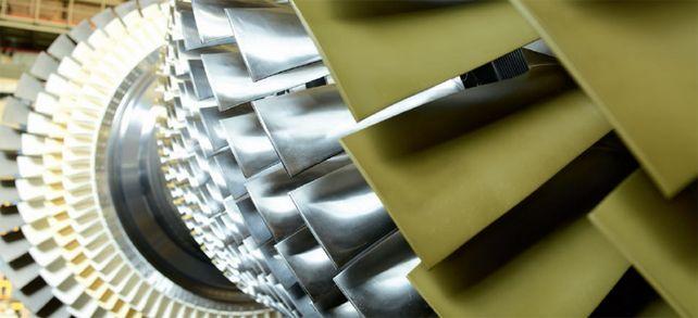 Gasturbine von Siemens: In der Herstellung sind Messpunkte exakt zu beachten. Über die Genauigkeit der Maschinen wachen Sensoren.