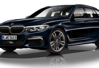 Immer dieselbe Optik der doppelnierenförmigen Kühlermaske: Die Einheitsfront verrät den BMW – auch beim 5er Touring.
