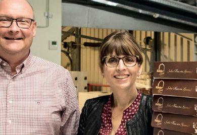 Schokolade macht glücklich: Sven Kaufhold und seine Frau Judith, die im Unternehmen für den Verkauf zuständig ist.