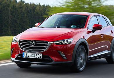 Eine besondere Attraktion für den Fuhrpark: Der Mazda CX-3 ist als eine modische Lifestyle-Variante auf Basis der erfolgreichen Mazda-3er-Linie entstanden.