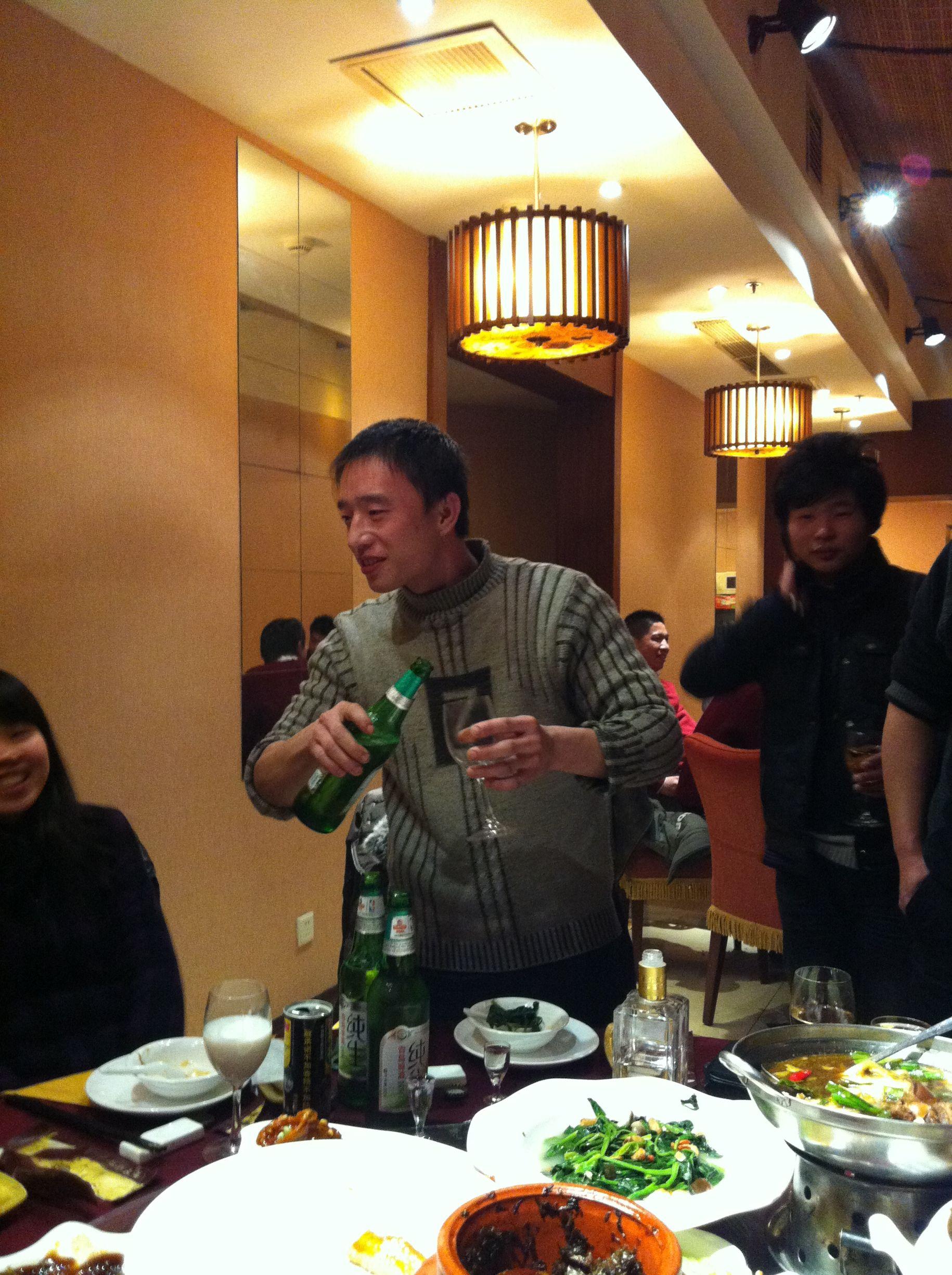 Bier und chinesischer Schnaps