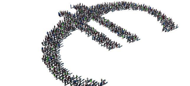 Die Masse macht's: Bei Wertpapieren stammt das Kapital für ein Unternehmen von vielen verschiedenen Anlegern.