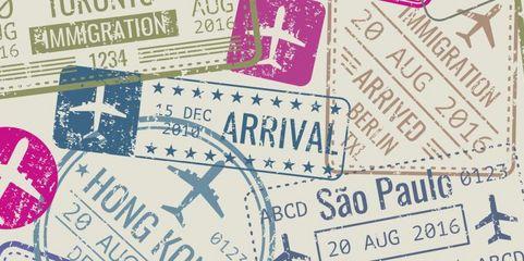 Bunte Stempel erhalten Deutsche auf Geschäftsreise, wenn sie ein gültiges Visum haben.
