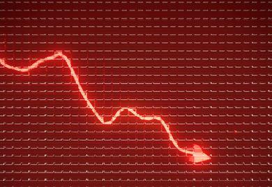 Sinkende Umsätze: Viele Unternehmen rutschten durch das Coronavirus in eine große Krise.