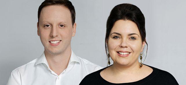 Gemeinsam sind sie stark: die Co-Chefs Yvonne Bläsing und Oliver Herrmann.