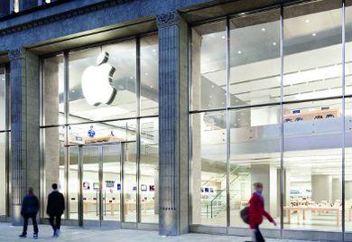 Apple Store in Hamburg: Paradebeispiel für Direktvertrieb durch den Hersteller.