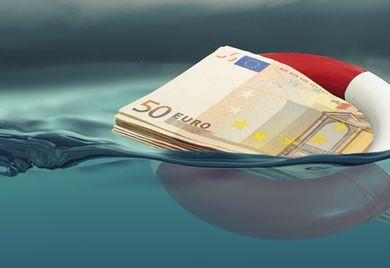 Mit Hilfskrediten über Wasser halten: Unternehmen sollten kalkulieren, ob sie in der Lage sein werden, die Kredite zurück zu bezahlen.