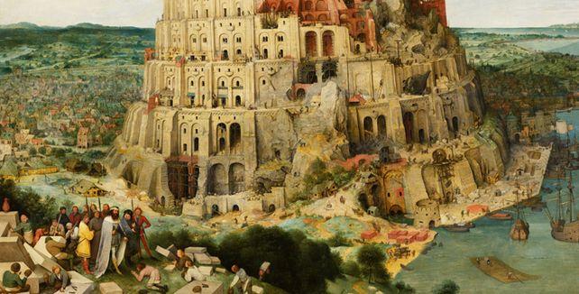Gottgewolltes Tohuwabohu: Beim Turmbau zu Babel fing das Chaos mit den andren Ländern, andren Sitten und andren Sprachen an. Wenn sie nicht aufpassen, leiden Mittelständler darunter bis heute.