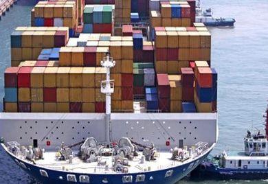 Einkauf in China: Container im Hafen in China