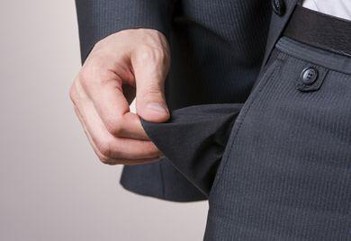 Kein Geld mehr: Vielen Unternehmen droht wegen der Corona-Krise die Zahlungsunfähigkeit.