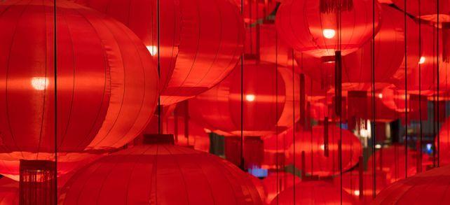 Farbenspiel: Im Reich der Mitte stehen rote Lampions für fröhliche Ereignisse. Aktuell sind die jedoch Mangelware.