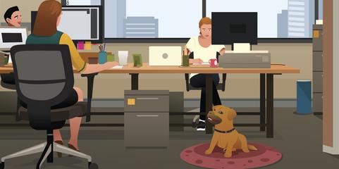 So geht's: Mit Kommunikation und klaren Regeln kann das Mitbringen eines Bürohundes klappen - und den Arbeitsalltag bereichern.