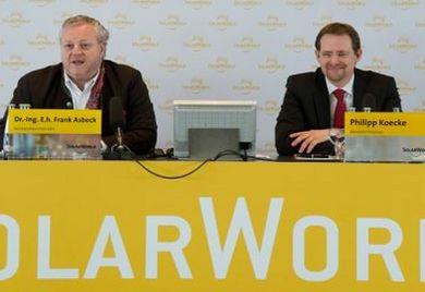 Pressekonferenz bei Solarworld