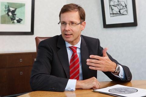 Vorstandsmitglied der Commerzbank Markus Beumer stellte die Studienergebnisse am Mittwochmorgen in Frankfurt vor.