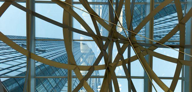 Blick nach oben: Laut Stefan Bender, Leiter Firmenkundengeschäft, gewinnt die Deutsche Bank immer mehr mittelständische Kunden.