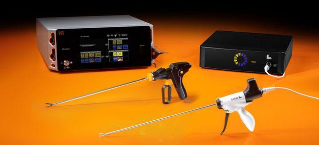 Meilensteine der Produktentwicklung: Das Elektrochirurgiegerät Arc 400 und das Ultraschallskalpell Lotus.