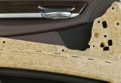 Der Automobilzulieferer Dräxlmaier verwendet den nachwachsenden Rohstoff Kenaf in der Türverkleidung des BMW i3.