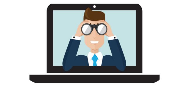 Wer guckt denn da? Die internetbasierte Jobsuche kann für Unternehmen wie für Bewerber Vorteile bieten. Doch spätestens bei der Unterzeichnung des Arbeitsvertrags stößt die Digitalisierung an ihre Grenzen.