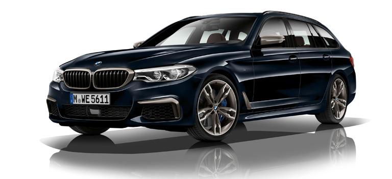 Platz 2 (8 Prozent): Wer den BMW 5er (im Bild: 540d)  im Rückspiegel sieht, wechselt meist freiwillig auf die Mittelspur. Dafür müssen BMW-Fahrer Abstriche bei der Beladung machen. Viel Platz bietet selbst der Kombi im Laderaum nicht, dafür eilt man sportlich-komfortabel von Termin zu Termin.