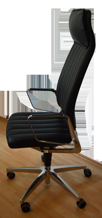 Interstuhl Vintage IS5Bedienungsfreundlichkeit:>> Armlehnen: Die Ringarmlehnen des Bürostuhls lassen sich nicht verstellen, befinden sich aber auf passender Höhe.>> Sitzhöhe: Anders als traditionell üblich, lässt sich bei diesem Bürostuhl die Sitzhöhe nicht mit einem Hebel auf der rechten Seite verstellen, sondern durch einen Druckschalter. Ein zweiter Druckschalter auf der linken Seite arretiert und entriegelt die Rückenlehne.>> Sitzfläche: Die Sitzfläche lässt sich ebenfalls verstellen.Funktionsumfang: Die Gasdruckfeder des Stuhls passt ihre Gegenkraft dem Gewicht des Besitzers an. Außerdem lassen sich die Sitztiefe sowie die Neigung verstellen. Aktivdynamisches Sitzen wird ermöglicht durch eine integrierte Dynamikwippe, die durch ein unterschiedliches Höhenniveau im Sitzpolster entsteht. Der Stuhl verfügt über eine Lordosenstütze, die mit Hilfe von zwei Schieberreglern in der Höhe und in der Tiefe eingestellt werden kann.Ausstattung: Rückenlehne und Sitzfläche sind angenehm gepolstert und mit elegant perforiertem Echtleder bezogen.Besonderheiten: Der Drehstuhl ist mit einer hohen Rückenlehne und einer integrierten Kopfstütze ausgestattet. Das Rollverhalten ist löblich.Preis: etwa 900 Euro