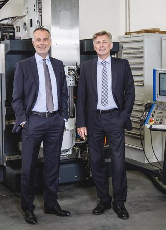 Gut verkauft: Lothar Schwarzlose (links) und Benedict Korischem