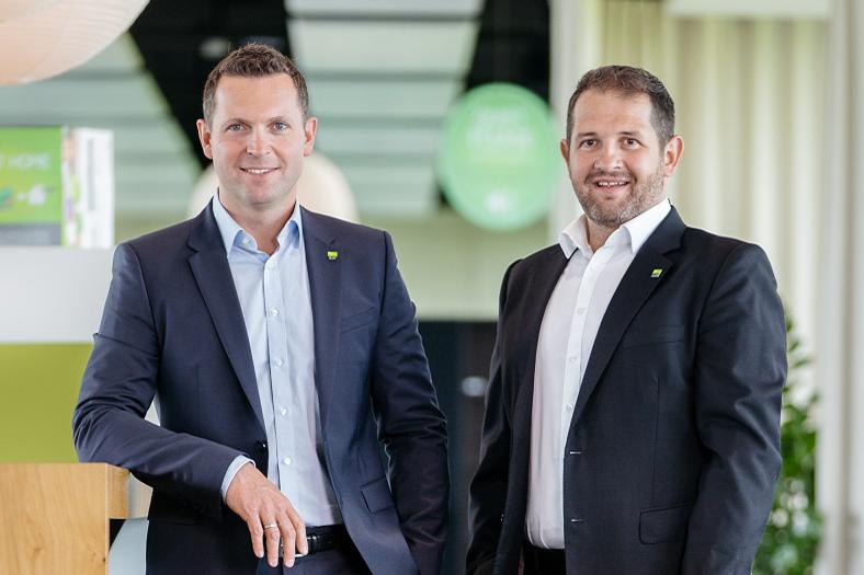Doppelpack: Das Gründer-Duo von Loxone, Martin Öller (links) und Thomas Moser.